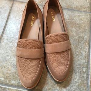 Aldo low wedge cork heel Sz 7